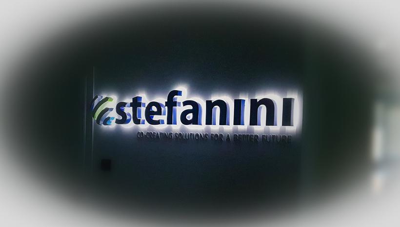 Объемные буквы Stefanini