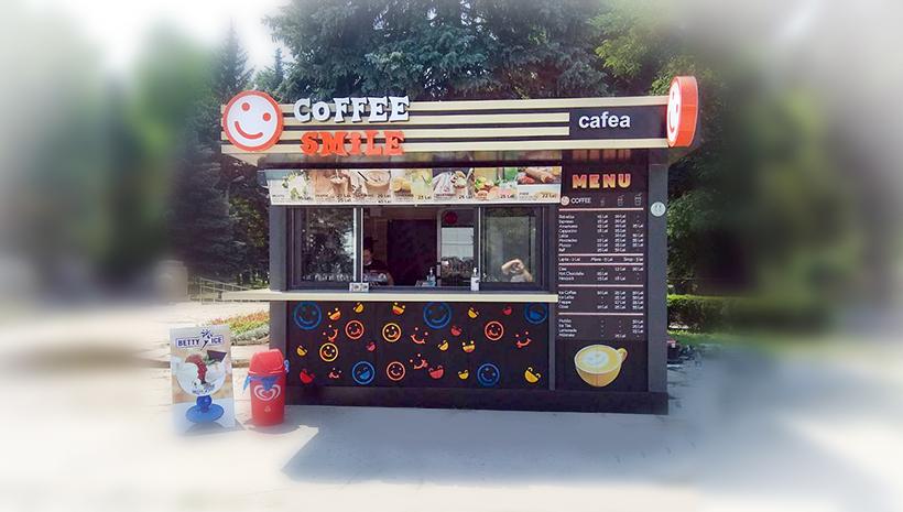 Оформление киоска Coffee Smile