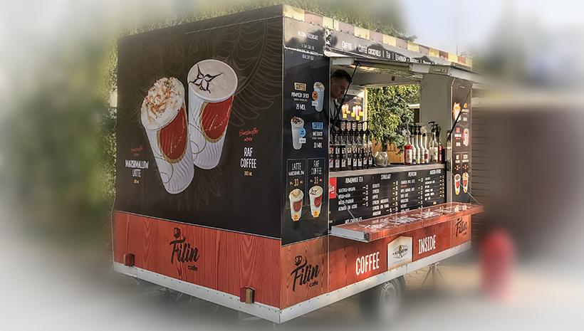 Оформление киоска Filin Cafe