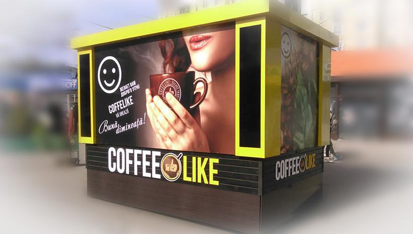 Оформление киоска Coffee Like