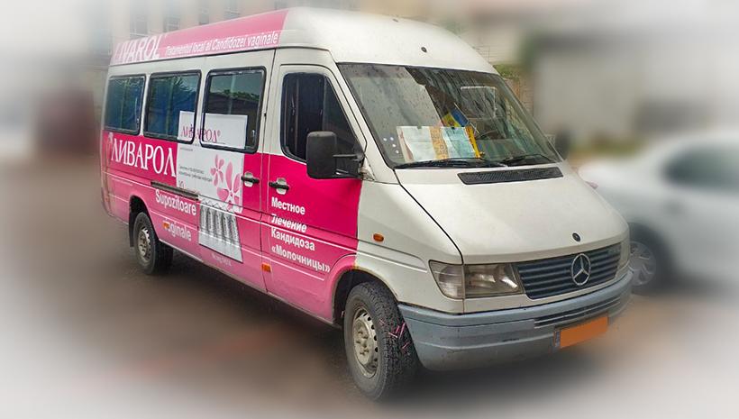 Реклама на маршрутном такси Livarol