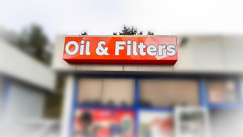 Световой короб Oil&Filters