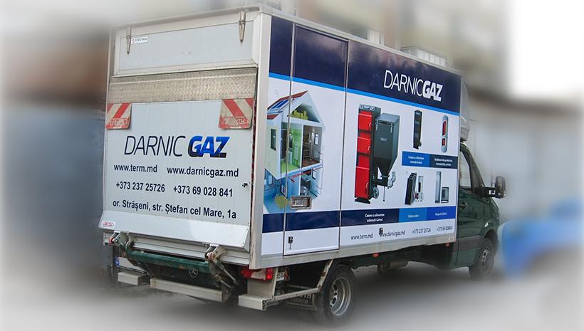 Реклама на машине Darnic Gaz