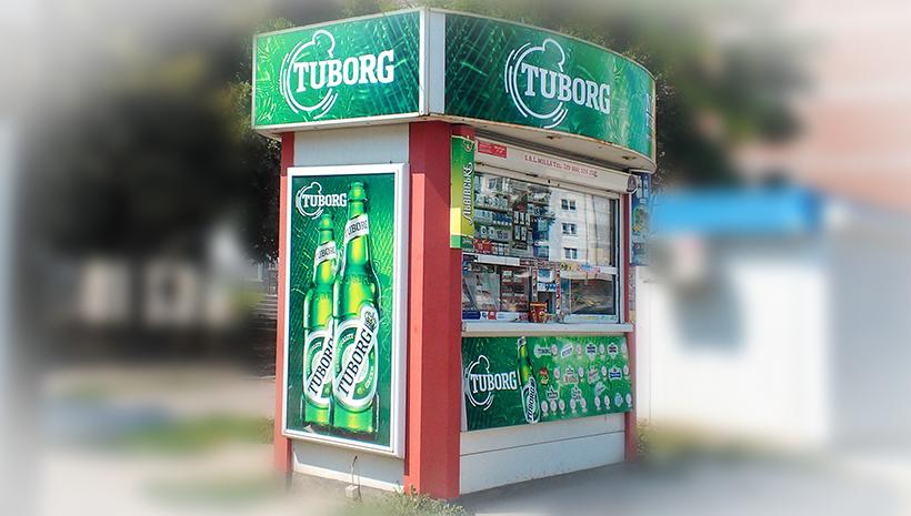 Оформление киоска Tuborg