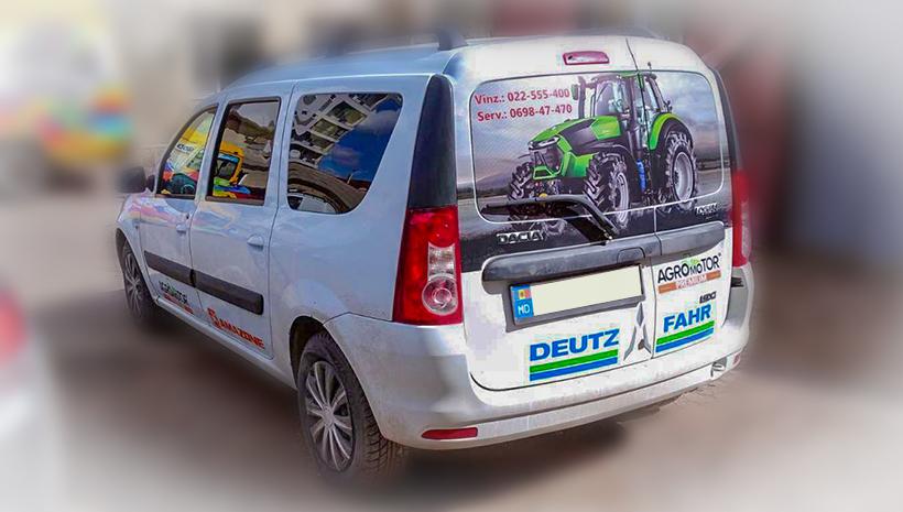 Реклама на машине Agromotor