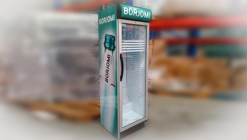 Монтаж оракала на холодильнике Borjomi