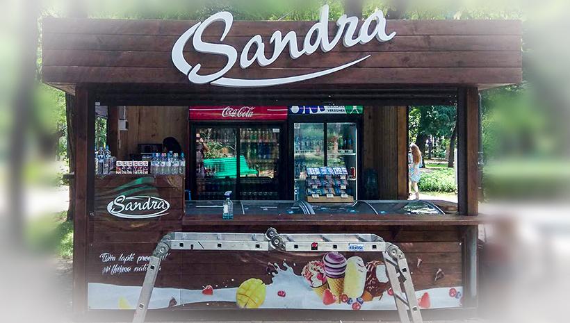 Объемные буквы Sandra