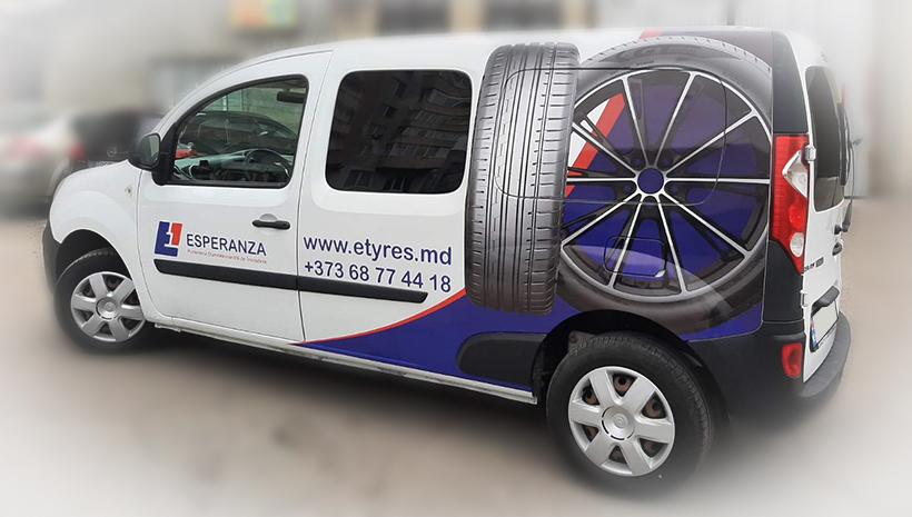 Реклама на машине Esperanza
