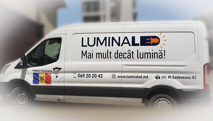 Реклама на машине Lumina Led