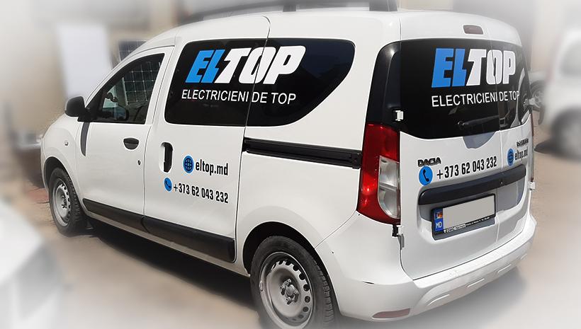 Реклама на машине Eltop