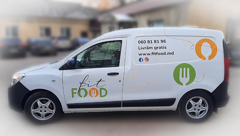 Реклама на машине Fit Food