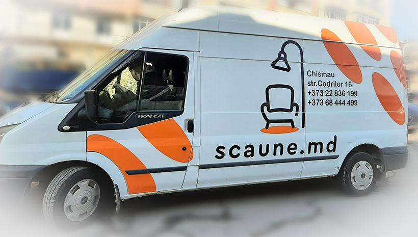 Реклама на машине Scaune.md