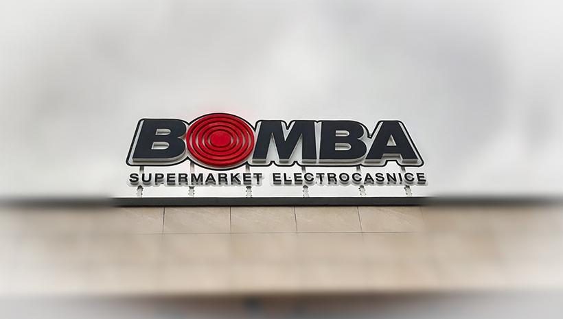 Объемные буквы Bomba