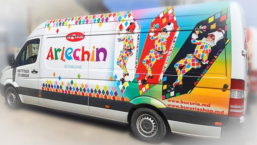 Реклама на машине Bucuria